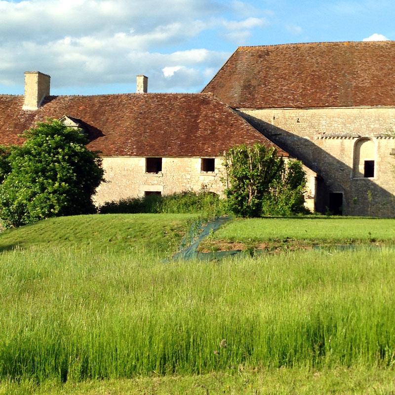 L'église et la cuisine des moines, Chartreuse de Basseville, Pousseaux. Printemps 2015.
