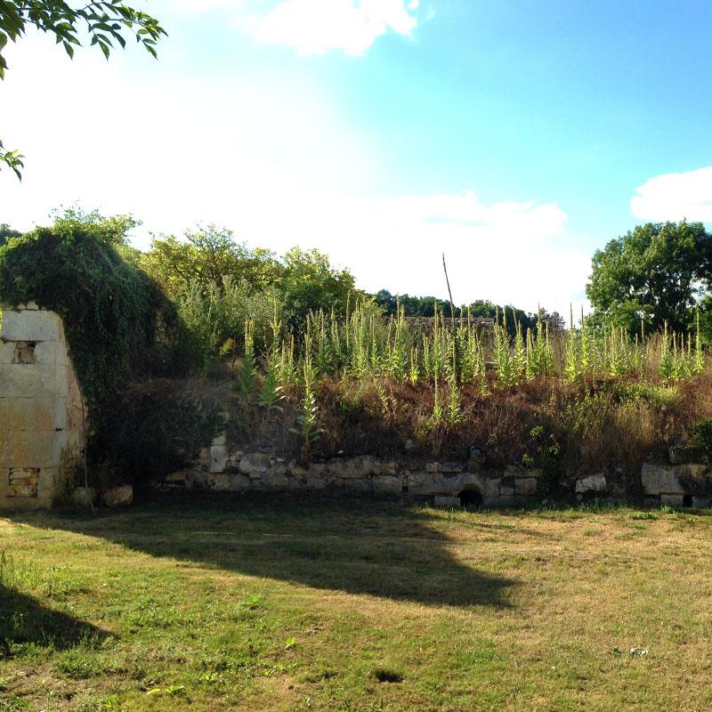 Hommage à Oudlof dans le jardin de la chartreuse de Basseville.