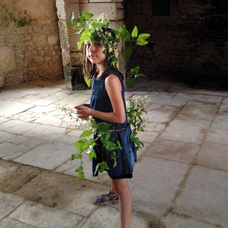 Une jeune et charmante visiteuse, Chartreuse de Basseville, été 2016.