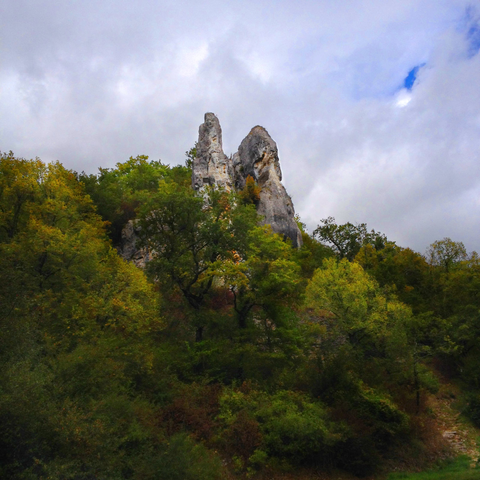 Les Roches de Surgy. Chartreuse Notre-Dame du Val Saint-Jean. automne 2017.