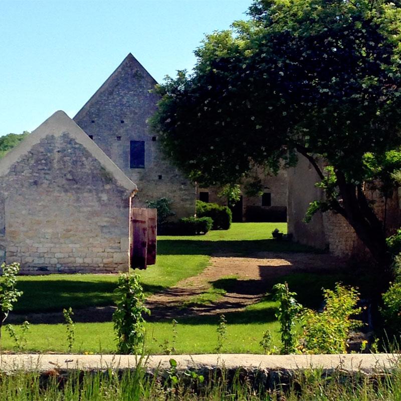 Le jardin, Chartreuse Notre-Dame du Val Saint-Jean.