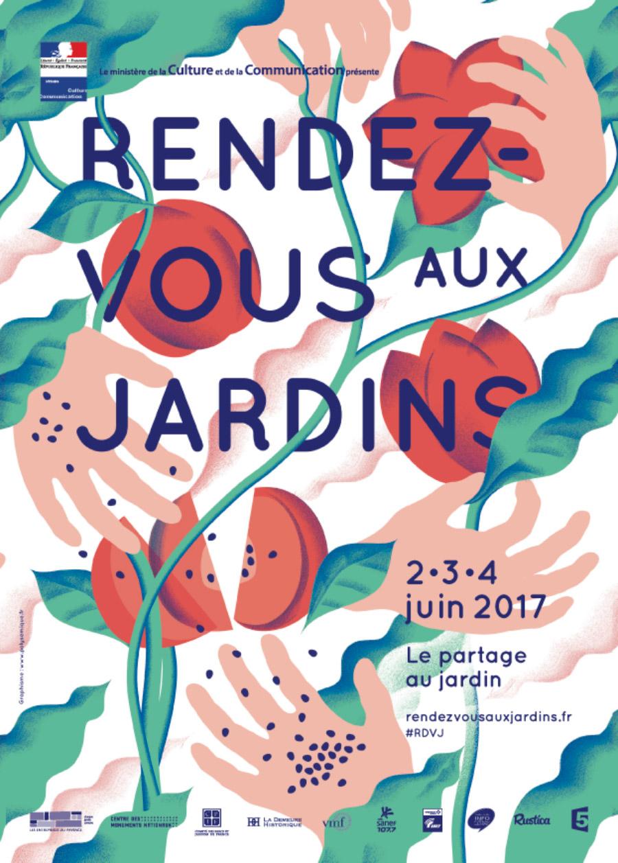 Affiche de la manifestation des rendez-vous aux jardins 2017