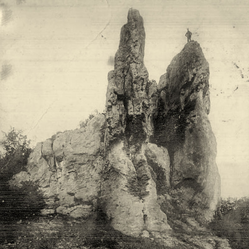 Les roches de Basseville, à Surgy, à proximité de la Chartreuse de Basseville dans la Nièvre.